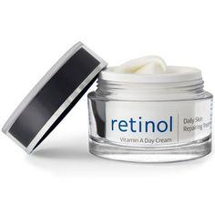 Retinol Vitamin A - Dokumentert effekt mot rynker! Dagkremen inneholder 0,5 % retinyl palmitate som dannes om til A-vitaminsyre ved påføring på huden. A-vitaminsyre er en av de få ingrediensene med dokumentert effekt mot rynker. Vitamin A stimulerer hudcellene til å fornye seg raskere. Gamle eller døde hudceller vil derfor raskere bli erstattet med nye, som mer effektivt tar til seg fuktighet. Retinol er også en sterk antioksidant som bremser hudens frigjøring av frie radikaler. Vitamins, Salt, Cream, Creme Caramel, Salts, Vitamin D