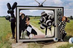 """Helena Bonham Carter and Tim Burton for """"Vogue"""" magazine"""