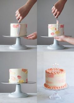 how to make an easy watercolor cake with butter cream icing, nap .- comment faire un gateau aquarelle facile au glaçage à la crème au beurre, nap… how to make an easy watercolor cake with buttercream frosting, topping cake colorful watercolor effect - Easy Cheesecake Recipes, Easy Cookie Recipes, Cake Decorating Techniques, Cake Decorating Tips, Cake Icing Techniques, Buttercream Cake Decorating, Cake Decorating For Beginners, Buttercream Frosting, Topping Cake