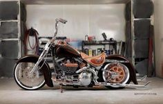 Post photos of you favorite modded Softail - Harley Davidson Forums Harley Davidson Forum, Motos Harley Davidson, Harley Davidson Street, Harley Softail, Custom Harleys, Custom Bikes, Custom Motorcycles, Touring Motorcycles, Custom Bobber