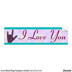 Love Hand Sign bumper sticker