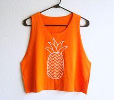 Pineapple Crop Top   Tropical Tanks