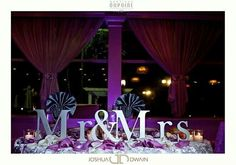 People wedding reception Mr & Mrs decor