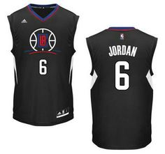 Los Angeles Clippers Jersey 6 DeAndre Jordan Revolution 30 Swingman 2015  New Black Jerseys b8d825e74