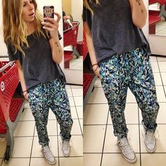 Here's another pair of hammer pants to love/hate.  (we love them) $24.99 by mossimo. // #targetdoesitagain
