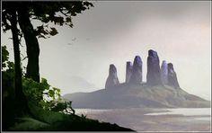 Thorgal - by Neil C. Visual Development, Monument Valley, Concept Art, Sci Fi, Environment, Rain, Animation, Fantasy, Landscape