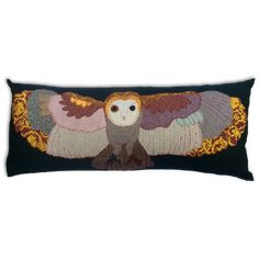 Flying Owl Cushion by Carola van Dyke