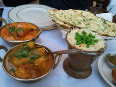 Chicke Tikka Masala & Vindaloo with Garlic Naan from India Clay Oven