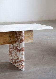 Muller Van Severen designes multi-color marble bench | Thisispaper