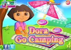 Dora Go Camping game. Dora is a very brave girl. She likes to go camping and she often goes camping by herself. She often encourages her friends to go camping by themselves. Girls, have you ever gone camping by yourself? Do you want to have a try?