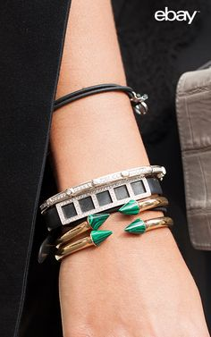 Mix chunky and elegant stacking bracelets to perfect your arm candy. Find this Vita Fede bracelet and shop more inspiration on eBay.