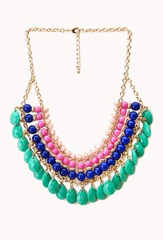 Worldly Beaded Bib Necklace | FOREVER21 - 1000072334