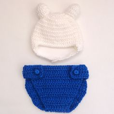 Finn Hat And Diaper Cover From Adventure Time - Newborn to Adult Photo Prop Baby Hat Halloween / Cosplay
