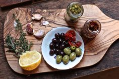 """""""Healthy Heart Tapenade Recipe, by Rosalee de la Forêt"""" via LearningHerbs """"Tapenades are a staple hors d'oeuvres or snack. The basic ingredients are olives, olive oil, garlic, capers, anchovies & lots of herbs. This is whipped up into a spread & can be enjoyed on bread, crackers, meats & veggies."""""""