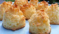 Kokostoppar med citron.  Hur lätta som helst att göra. Pan Dulce, Gluten Free Baking, Lchf, Afternoon Tea, Baking Recipes, Food To Make, Biscuits, Bakery, Food And Drink