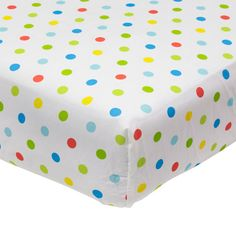 Baby Boom - Mix 'N Match Dot Print Fitted Crib Sheet, Blue: Bedding & Decor : Walmart.com