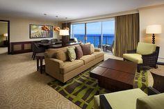 Sheraton Waikiki—Executive Ocean Suite - Living Room