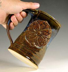 Beer tankard ceramic coffee mug Ardagh chalice by hughespottery, $40.00