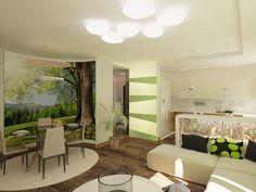 Квартира в эко-стиле. Гостиная