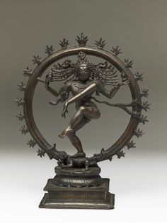 Figure of Shiva as Nataraja, Lord of the Dance (front) : Ashmolean Museum Indian Gods, Indian Art, Sculpture Art, Sculptures, The Ancient One, Nataraja, Shiva Art, India Culture, Hindu Deities