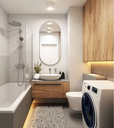 Home Designer, Narrow Bathroom, Bath Remodel, Washing Machine, Sweet Home, Bathtub, Home Appliances, Interior Design, House