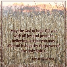 May the God of hope. Romans 15 13, Biblical Quotes, Holy Spirit, Believe, Peace, Joy, Inspirational, Holy Ghost, Glee