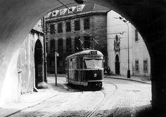 Tramvaj T1 Locomotive, Prague, Buses, Time Travel, Trains, Retro, Board, Photography, Photograph