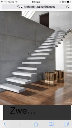 Utah's first choice for precast concrete stair treads. Cantilever Stairs, Concrete Staircase, Wood Stairs, House Stairs, Precast Concrete, Polished Concrete, Luxury Staircase, Staircase Design, Home Interior Design