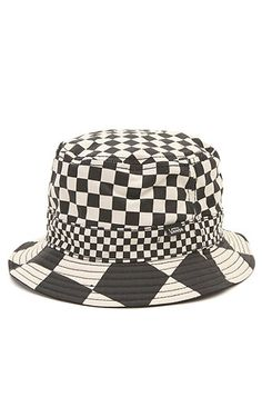 Vans Shop Checker Bucket Hat - The Checker Bucket is a cotton reversible bucket  hat with all-over checker print and Vans logo label on the band. 829347acb0b3
