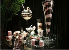 Candy Buffet! <3 this idea, first seen it at my cousins wedding and it has just been every where since.