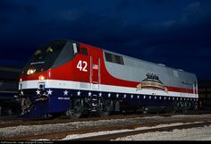 RailPictures.Net Photo: AMTK 42 Amtrak GE P42DC at Indianapolis, Indiana by Casey Thomason