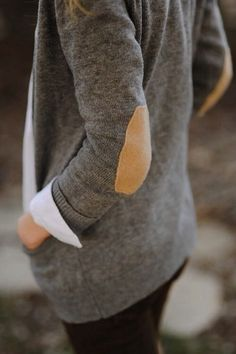 Crazy about jackets and sweaters with elbow pads. I like the pairing of these two neutrals too.