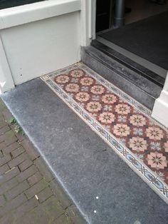 Carreaux de ciment 15x15 - Entrée de maison Amsterdam