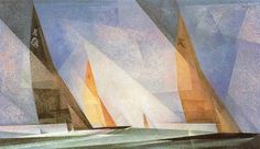 Lyonel Feininger: From cubism to German expressionism - TrianartsTrianarts Wassily Kandinsky, Art And Craft Design, Design Art, Ludwig Meidner, Glass Boat, Stephen Shore, Francis Picabia, Miro, Sailboat Painting