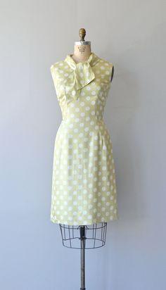 Oleg Cassini dress vintage 60s dress silk polka by DearGolden