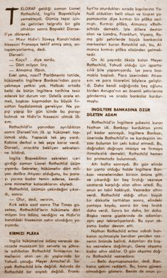 OĞUZ TOPOĞLU : rothschild ailesi tarihçesi ve nathan mayer rotschild birinci bölüm hayat dergisi 1962