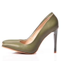 OLIVE Stiletto shoes - romanian designers SHOP ONLINE Stiletto Shoes, Designers, Heels, Shopping, Fashion, Heel, Moda, Fashion Styles, High Heel