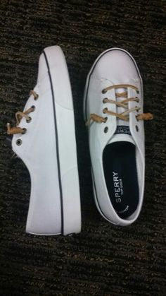 Seacoast canvas white sperrys
