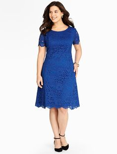 Talbots - Amherst Lace Fit & Flare Dress | New Arrivals | Woman