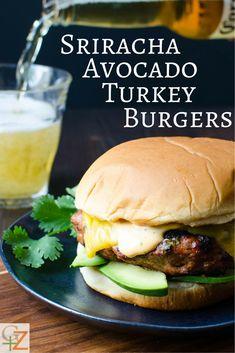 Sriracha Avocado Turkey Burgers   Garlic + Zest
