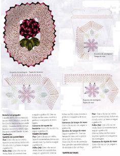 Aline crochê: Jogo de Banheiro com flores