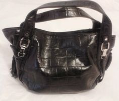 Chinese Laundry Large Handbag Satchel Purse,Tote Croco Embossed Faux Leather