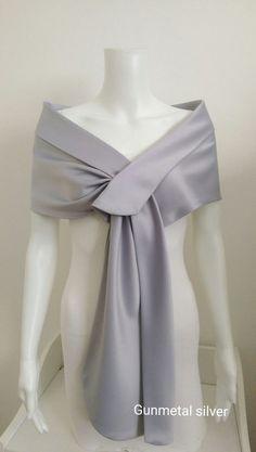 Silver satin stole shawl bolero shrug new size 8 10 12 14 16 18 20 22 | Clothes, Shoes & Accessories, Women's Accessories, Scarves & Shawls | eBay!