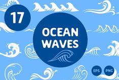 Ocean Waves  by Cactus Studio on @creativemarket