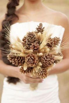 Bouquet pinha com trigo