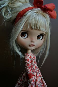""", it's an honor and pride for me to tell you that Eva and me are working together to offer """"Lieke"""" very soon. Ooak Dolls, Blythe Dolls, Creepy Dolls, Doll Repaint, Little Doll, Custom Dolls, Ball Jointed Dolls, Doll Face, Big Eyes"""