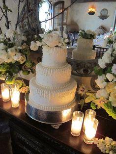 Classic Wedding Cake White on White