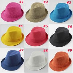 C$ 5.28 Cheap hat system, Buy Quality hat cowboy directly from China hat led Suppliers: 	 	 welcome to our store	  	Baby Fedora Hat Solid Color Children Hat Kids Linen Jazz Cap Cowboy Hat