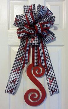 Alabama Wooden Letter Initial Door Hanger by Upcycle2Elegance, $25.00