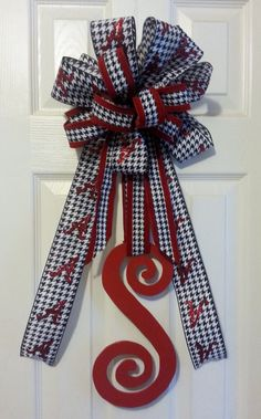 Alabama Wooden Letter Initial Door Hanger by Upcycle2Elegance, $25.00